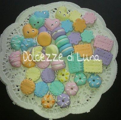 lotto stock 42 biscotti in fimo fatti a mano per decorare cornici,scatole,portafoto cabochon