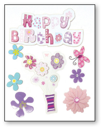 Decorazioni 3d Happy Birthday Materiali Scrapbooking