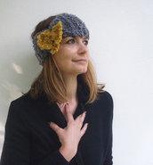 Accessori per donne eleganti Boho fascia per capelli Grigio giallo Autunno