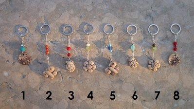 Portachiavi Anticati realizzati a mano in pasta polimerica