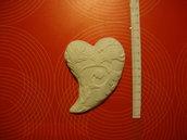 """Gessetto in polvere ceramica """"cuore decorato"""""""
