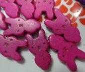 5 Perline Coniglietto colore FUCSIA