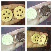1 pezzo ciondolo in fimo biscotto ringo o baiocchi grandezza reale da 4 cm fatto a mano