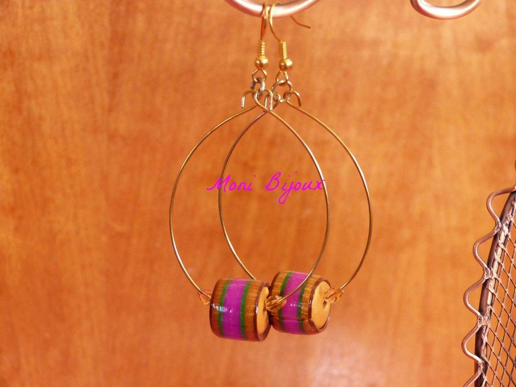 orecchini pendenti con perla in fimo