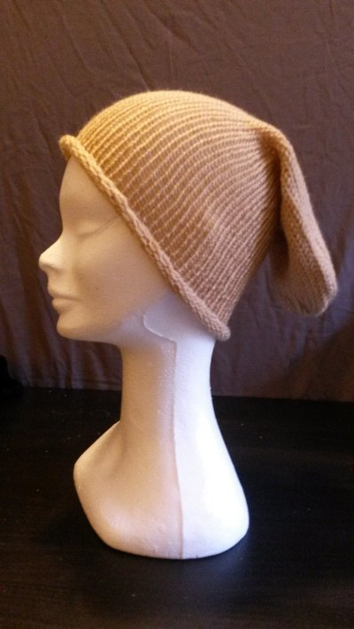 Cappello in lana beige