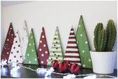 2 Alberi decorativi di Natale in legno