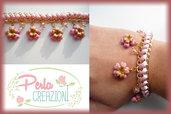 Bracciale Pastel Flowers & Gold - Rosa