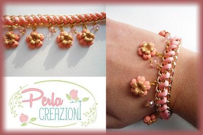 Bracciale Pastel Flowers & Gold - Aragosta