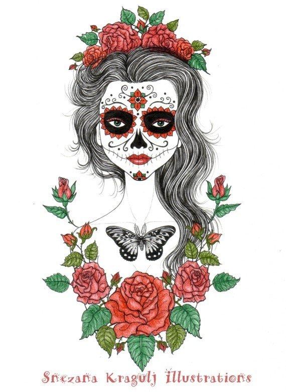 """Il ritratto di Katrina,""""Dia de los muertos"""""""