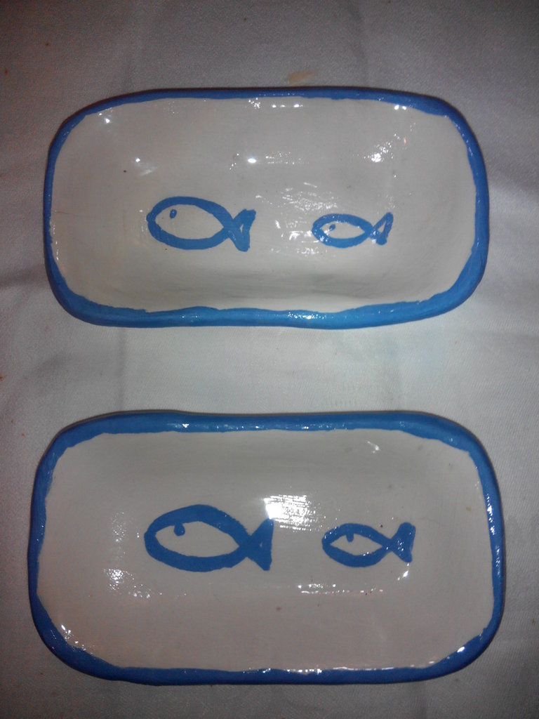 porta saponetta - porta gioielli in ceramica fatto a mano