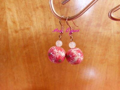 orecchini con perla in fimo