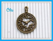 2 charms orologio bronzo 33x25mm