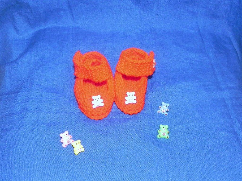scarpette rosse con orsetto per bebè