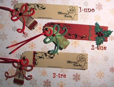 Segnalibro di Natale - Decorazione Natalizia in Scrapbooking^^ - Idea Regalo^^