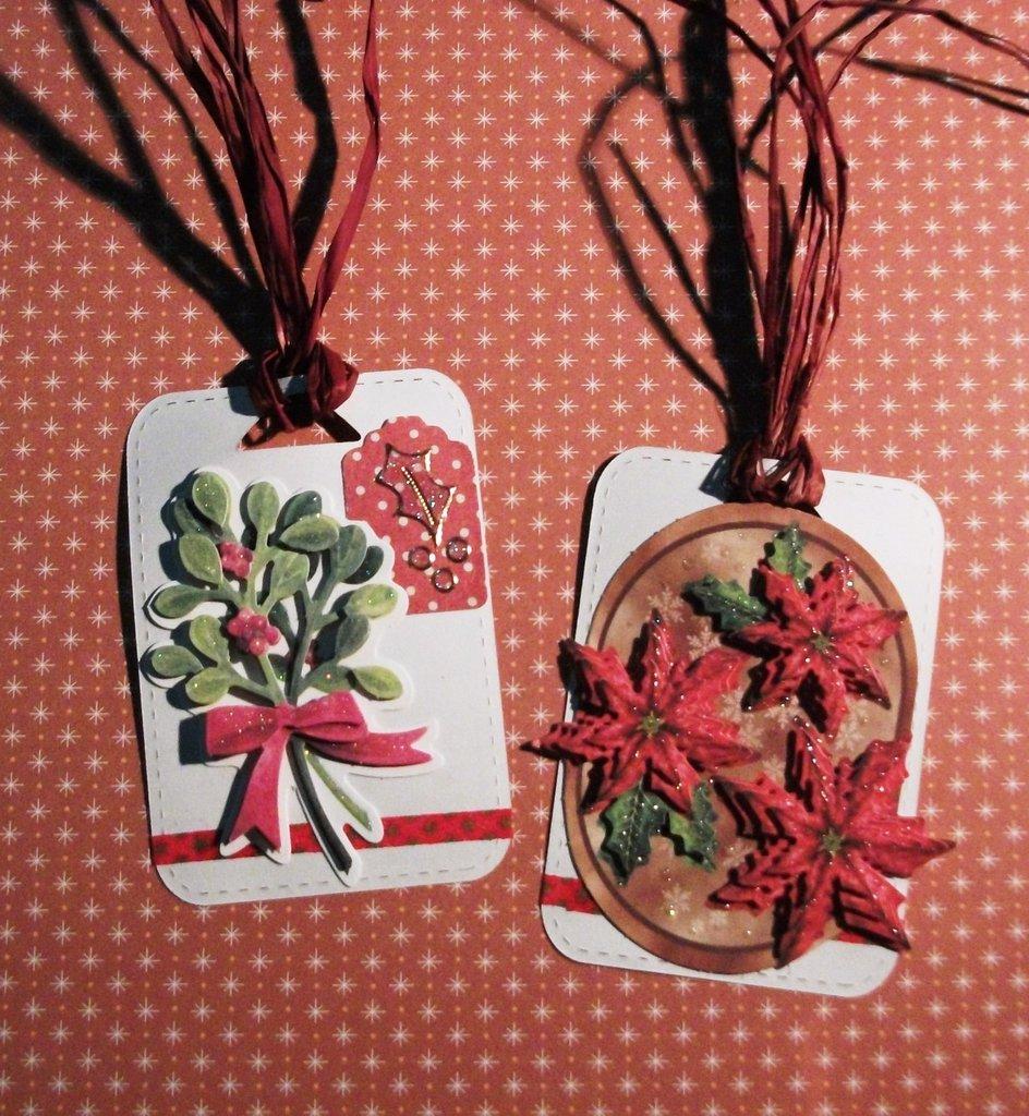 Etichette Chiudipacco - Tag - Targhette di Natale in Scrapbooking 3D per Packaging Natalizio^^