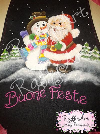 "Grembiule da cucina ""Buone Feste – Christmas Friends"""