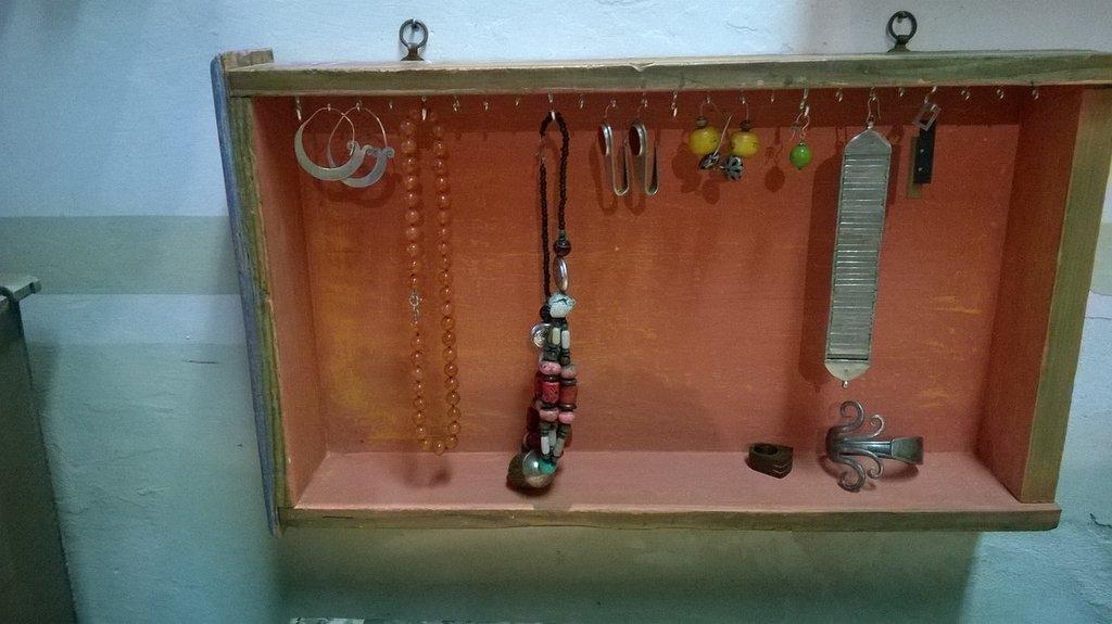 Pensile porta gioielli per la casa e per te - Porta gioielli fatti in casa ...