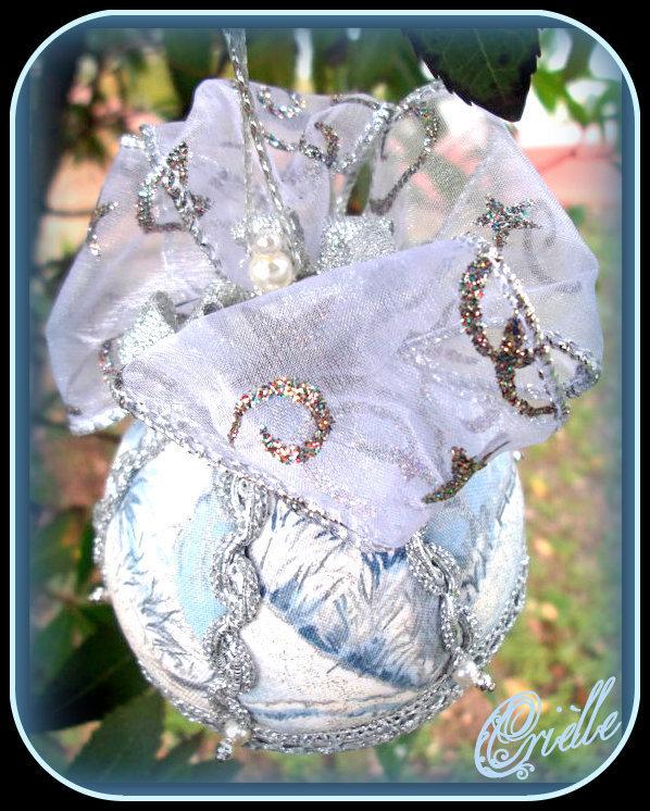 Natale - Pallina di Natale in Patchwork - Addobbo Albero di Natale - Addobbo Natale