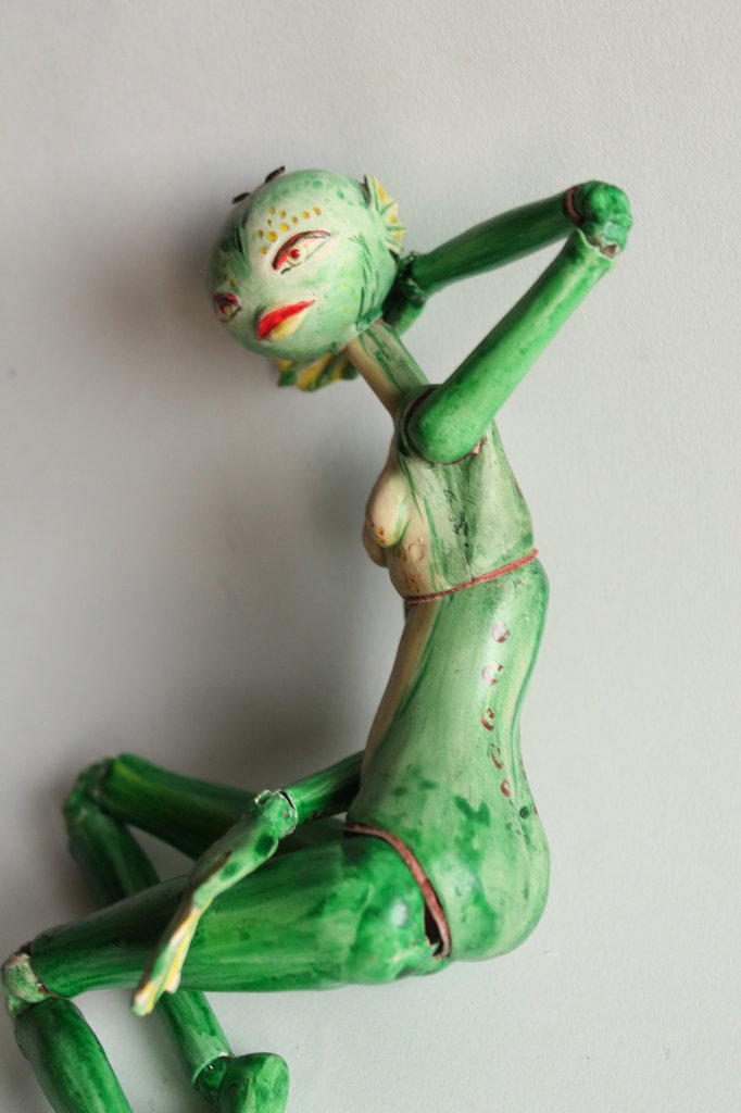 Bambola articolata BJD in ceramica Frog doll