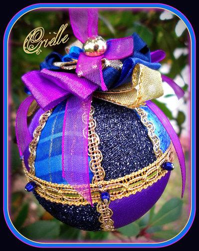 Natale - Pallina di Natale in Patchwork - Natale Blu e Oro