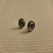 Orecchini spirale filo di alluminio