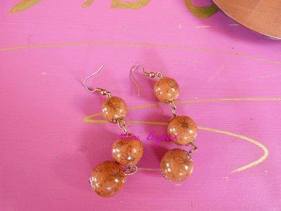 orecchini tris di perle in fimo