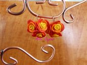 orecchini bouquet di rose