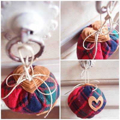 Decorazione di natale sfera in stoffa scottish per albero di natal su misshobby - Decorazioni natalizie fatte a mano per bambini ...