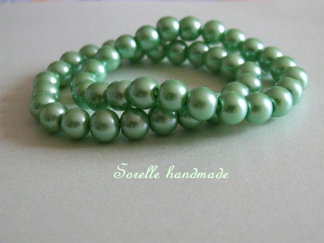 Braccialetto di perle di colore verde