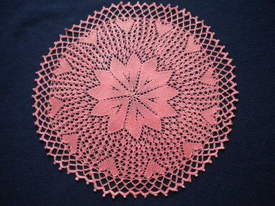 Centrino centrotavola rosa antico con cuori