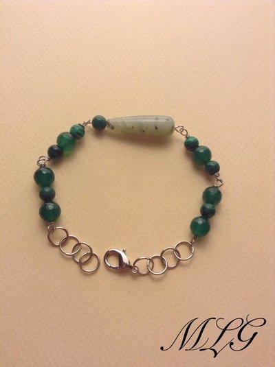 Bracciale in pietre dure agata verde
