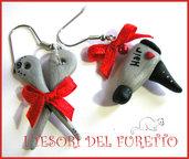 "Orecchini ""Phon + Forbici "" parrucchiera idea regalo fimo cernit kawaii Natale 2014"