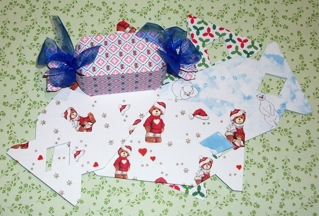 Scatoline decorate per Regali di Natale - Caramelle1^^ - Scrapbooking&Packaging - Lotto (4pz)