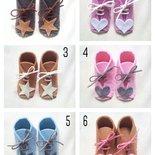 scarpette baby con lacci modello tipo  clarks