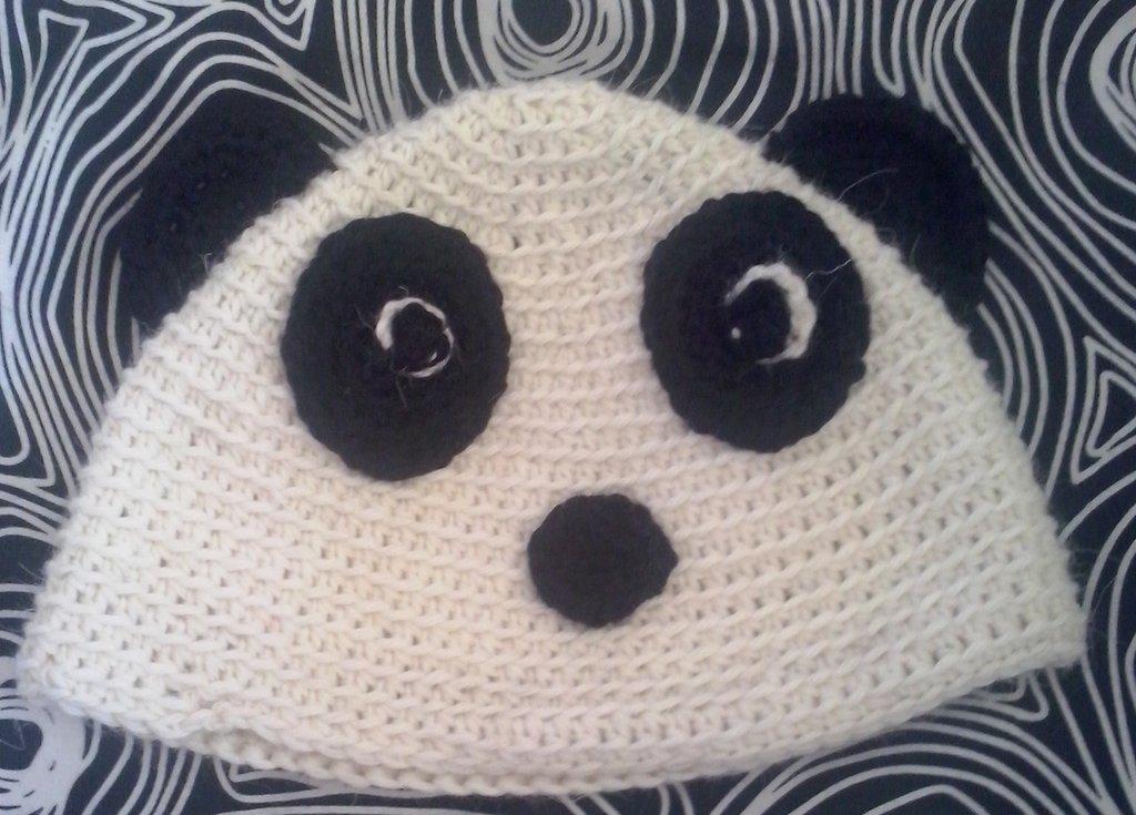 Cappello a forma di panda