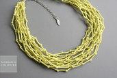Tessile collana , Colori: giallo, argento