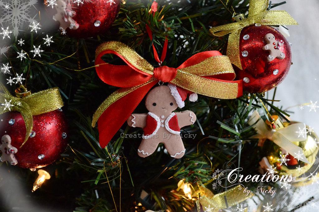 Decorazione albero di Natale Omino Pan di zenzero
