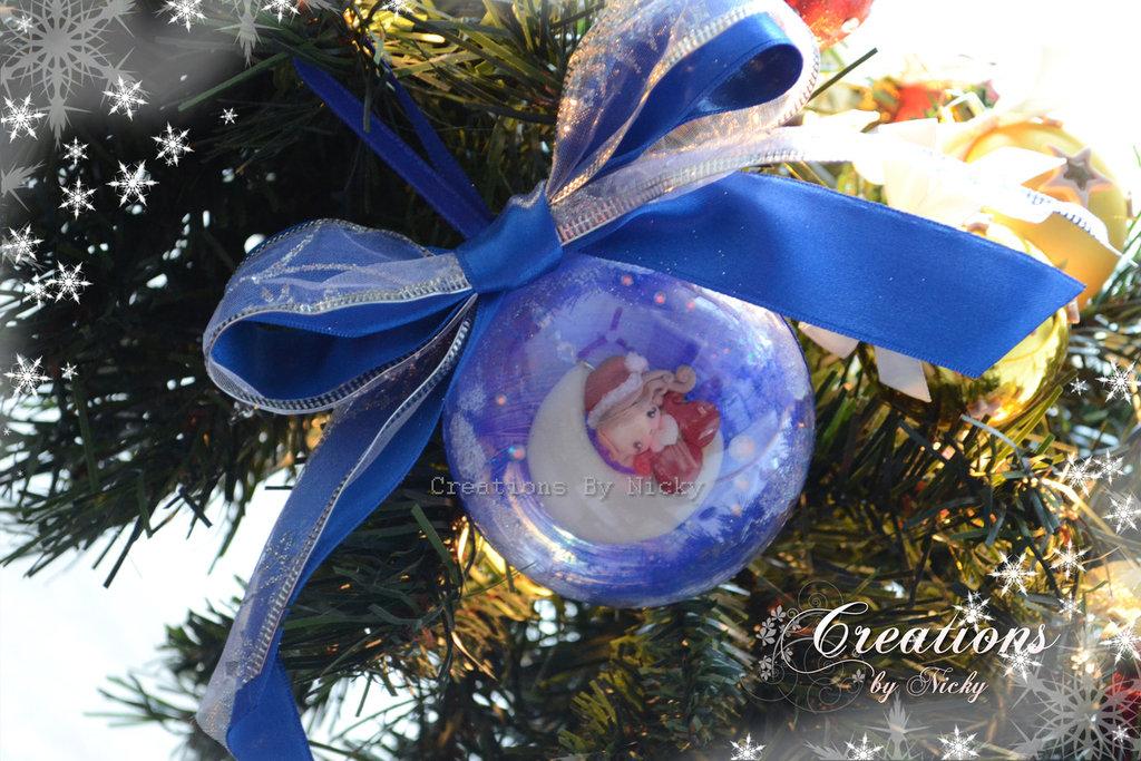 Pallina con follettina di Natale e mini gingerbread
