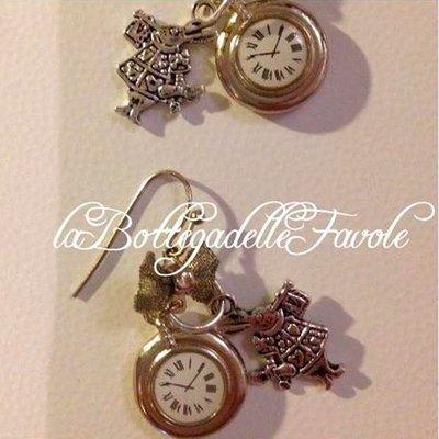 Orecchini orologio Bianconiglio