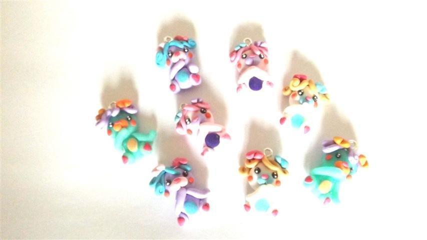 REVIVAL ANNI 80 - FIMO - I POPPLES - orsetti da  collezione - ciondolo figura intera UNO A SCELTA  - idea regalo - per orecchini, braccialetti, charms, collane