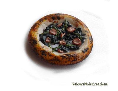Calamita magnete per frigo pizza  napoletana salsiccia e friarielli