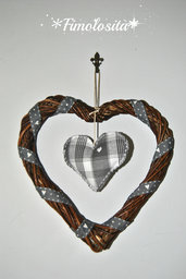 Ghirlanda cuore in stile Shabby Chic (SOLO SU RICHIESTA)