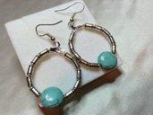 Orecchini cerchio azzurri e argento
