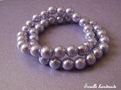 Braccialetto di perle color lilla