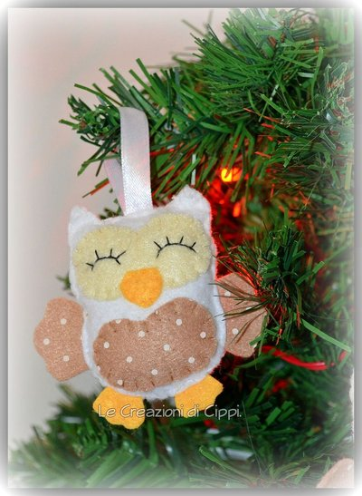 Decorazioni natalizie gufetti shabby chic feste - Decorazioni shabby natalizie ...