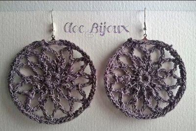 Orecchini Crochet cerchio viola
