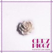 1 x cabochon - fiore bianco
