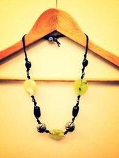 Collana artigianale in pietre dure (Verde)