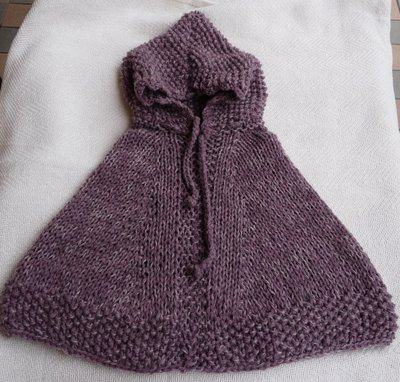Poncho bimba in lana