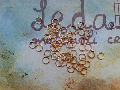 100 Anellini 7mm apribili oro